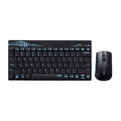 Rapoo 8000 Blue Wireless Keyboard & Mouse Combo with Bangla