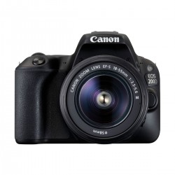 Canon EOS 200D Digital SLR Camera Body With EF-S 18-55mm 1:3.5-5.6 III Lens (Black)
