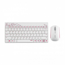 Rapoo 8000P White Wireless Keyboard & Mouse Combo with Bangla