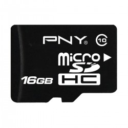 PNY 16GB MicroSDHC class-10 UHS-I Memory card With Adapter