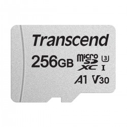 Transcend 256GB Micro SD UHS-I U3 Memory Card with Adapter # TS256GUSD300S-A