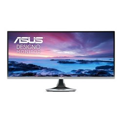 ASUS Designo Curved MX34VQ 34 Inch Ultra-wide Curved (1800R) 100Hz Frameless Monitor with Qi Wireless Charger in base stand and Harman Kardon Audio, Blue Light Filter