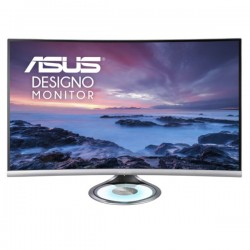 Asus Designo Curve MX32VQ 32 Inch 2K WQHD, 1800R Curvature, Frameless, Halo Lighting Base, Audio by Harman Kardon, Flicker Free, Blue Light Filter, Curved Monitor (Dual HDMI, DisplayPort, Earphone)