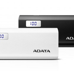 A Data P12500D White Power Bank (12500mAH)