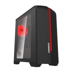 Gamemax H-601-BR Mid Tower Black & Red Gaming Casing