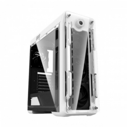 Gamemax Optical G-510-White (Acrylic Side Window) ATX Full Tower White (RGB LED Fan) Gaming Casing
