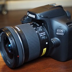 Canon EOS 4000D Digital SLR Camera Body with EF-S 18-55mm 1:3.5-5.6 III Lens